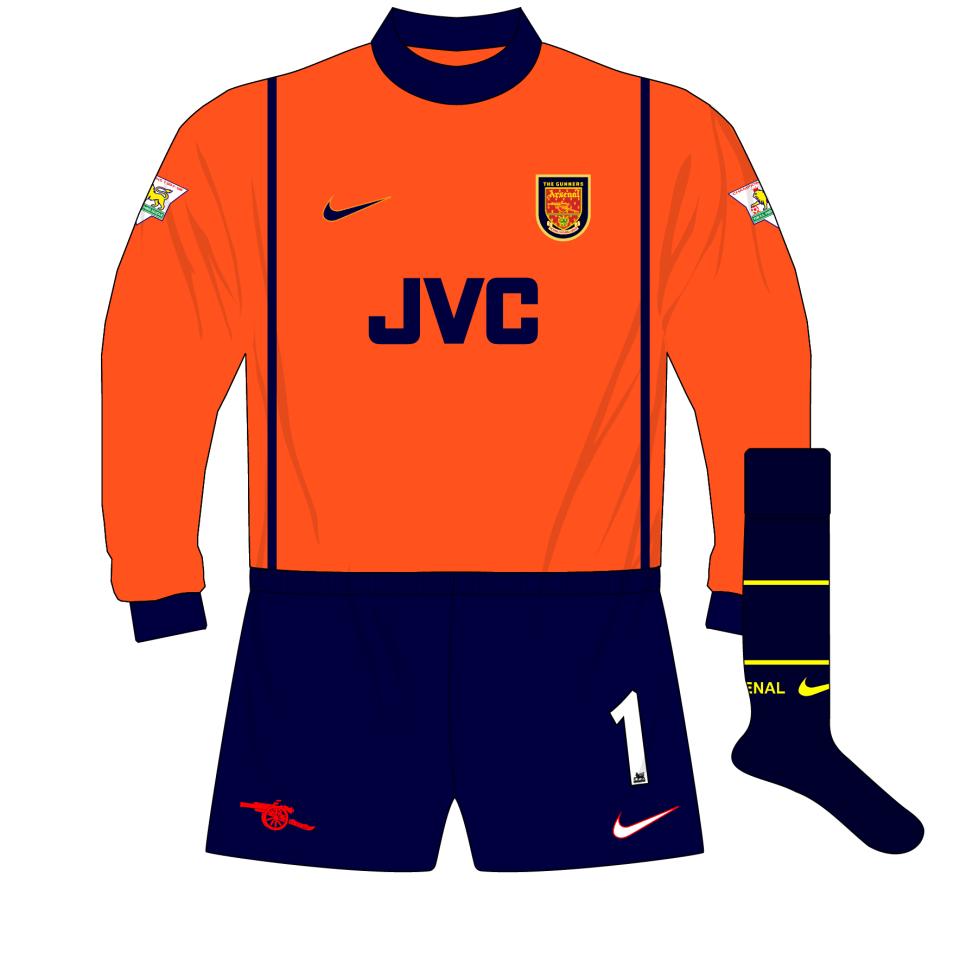new arrival 09b0e 749aa Arsenal-Nike-1998-1999-orange-goalkeeper-shirt-kit-01 ...