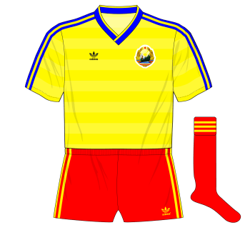 Romania-adidas-1986-USSR-red-shorts-red-socks