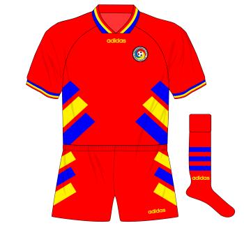 Romania-away-kit-Brazil-friendly-1995-01