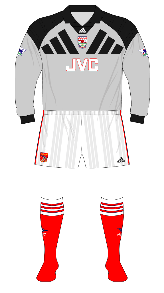 the latest 813db 0e4a0 Arsenal-1992-1993-adidas-grey-goalkeeper-01 | Museum of Jerseys
