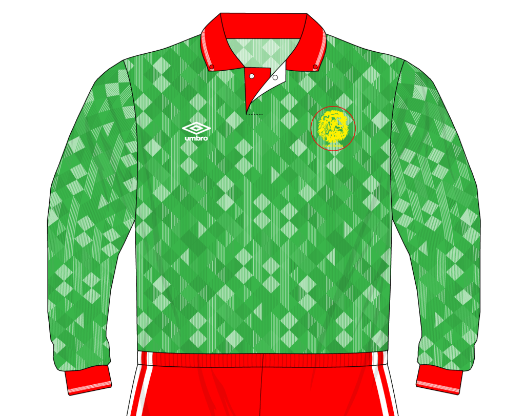 Cameroon-1991-Umbro-shirt-England-friendly-01