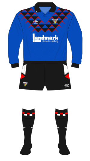 Triangles and stripes – Umbro's goalkeeper offerings 1991-93