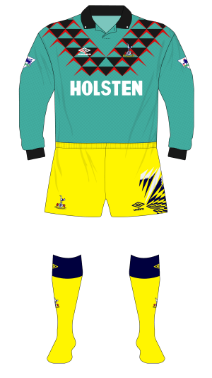 Tottenham-Hotspur-Spurs-1992-1993-Umbro-green-goalkeeper-shirt-Sheffield-Wednesday-01