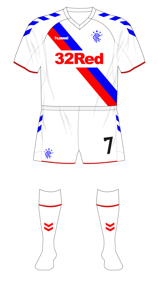 Rangers-2018-Hummel-away-shirt-white-shorts-01