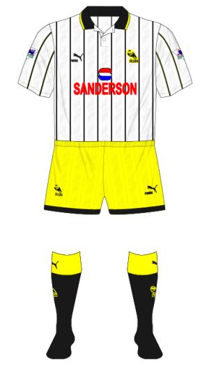Sheffield-Wednesday-1993-1994-white-third-kit-Newcastle-Wimbledon-yellow-shorts-01