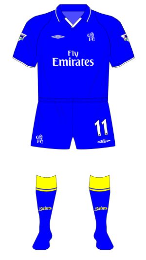 Chelsea-2001-2003-Umbro-home-kit-blue-shorts-Southampton