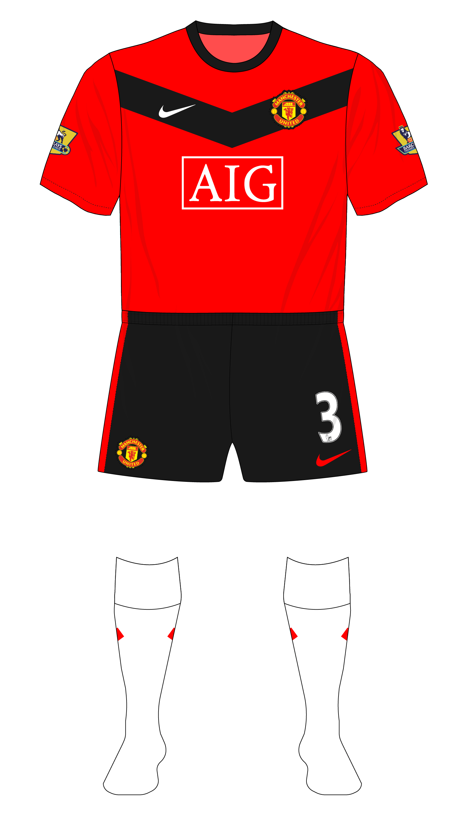 8f0ef1494 Season in kits – Manchester United