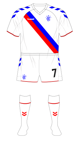Rangers-2018-Hummel-away-shirt-white-shorts-no-sponsor-Ufa-01