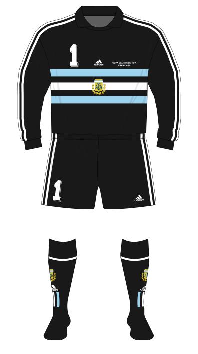Argentina-1998-adidas-camiseta-portero-negro-Roa-01