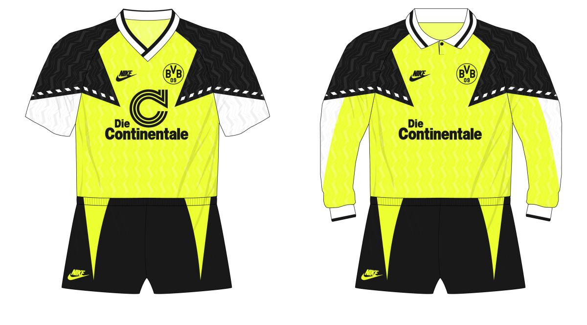 Escarpa giro Gladys  Bundesliga Classics – Borussia Dortmund's first Nike kit, 1990-91 –  MuseumofJerseys.com
