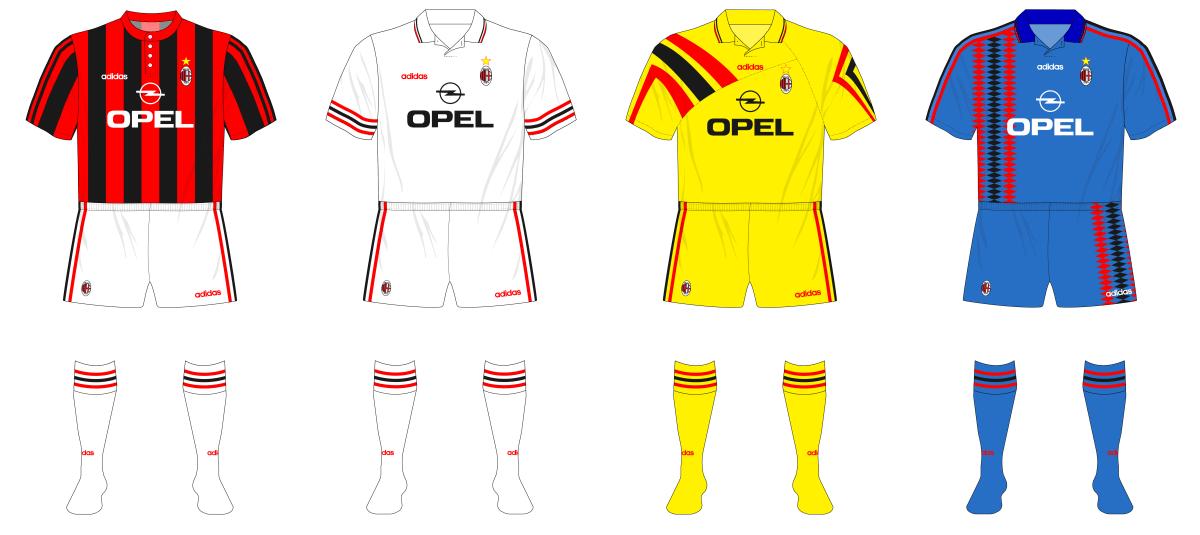 AC Milan In Adidas, 1995-96