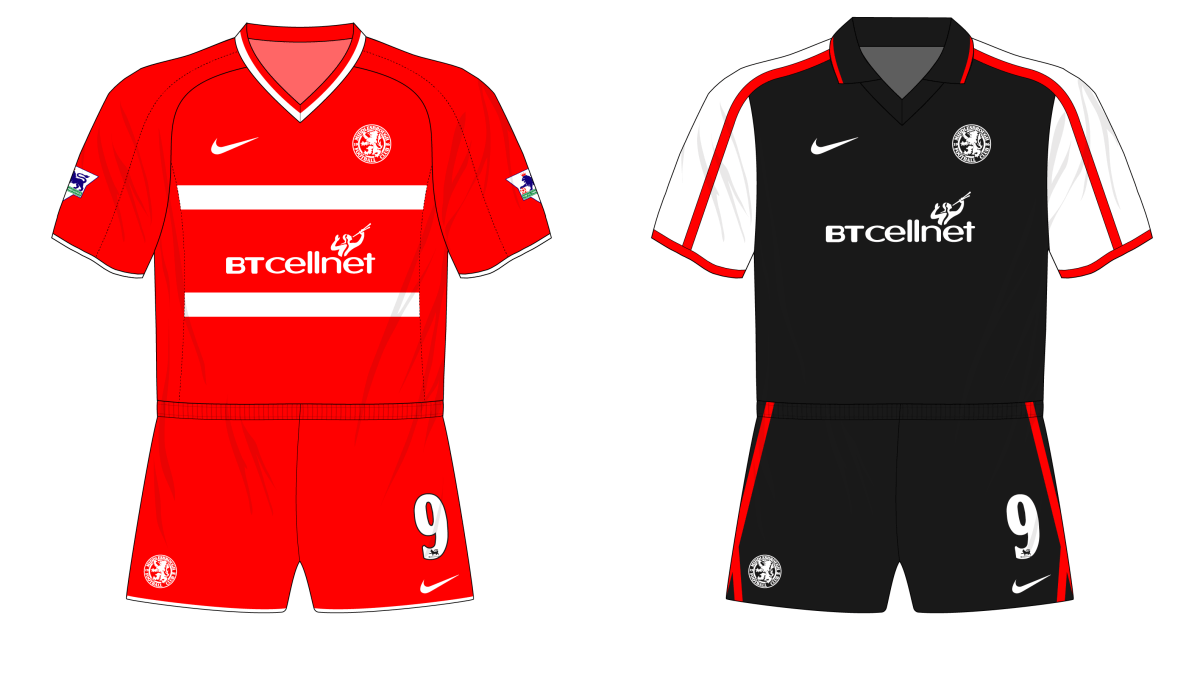 Middlesbrough Nike 2000-01