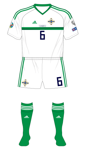 New adidas Boy's Northern Ireland 2018//19 Home Shorts White
