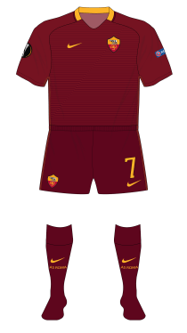 Roma-2016-2017-Nike-home-red-socks-Villarreal-01