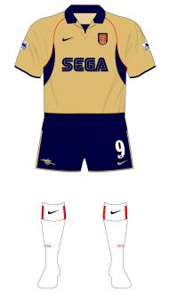 Arsenal-2001-2002-Nike-away-white-socks-Sunderland