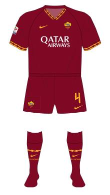 Roma-2019-2020-Nike-maglia-red-shorts