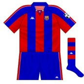 1994-95 Barcelona European home kit