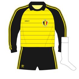 adidas-Belgium-yellow-goalkeeper-shirt-jersey-1982-Preud'homme