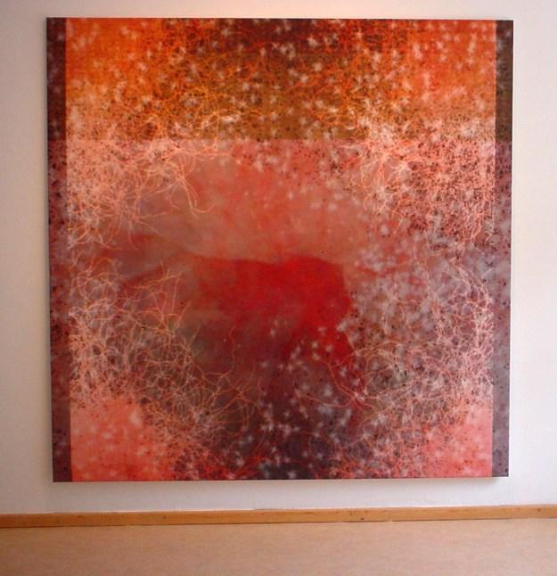 rear windOw curiOsités (2012) at Art Laboratory Berlin, computer-robotic assisted acrylic paintings, 2x2m,