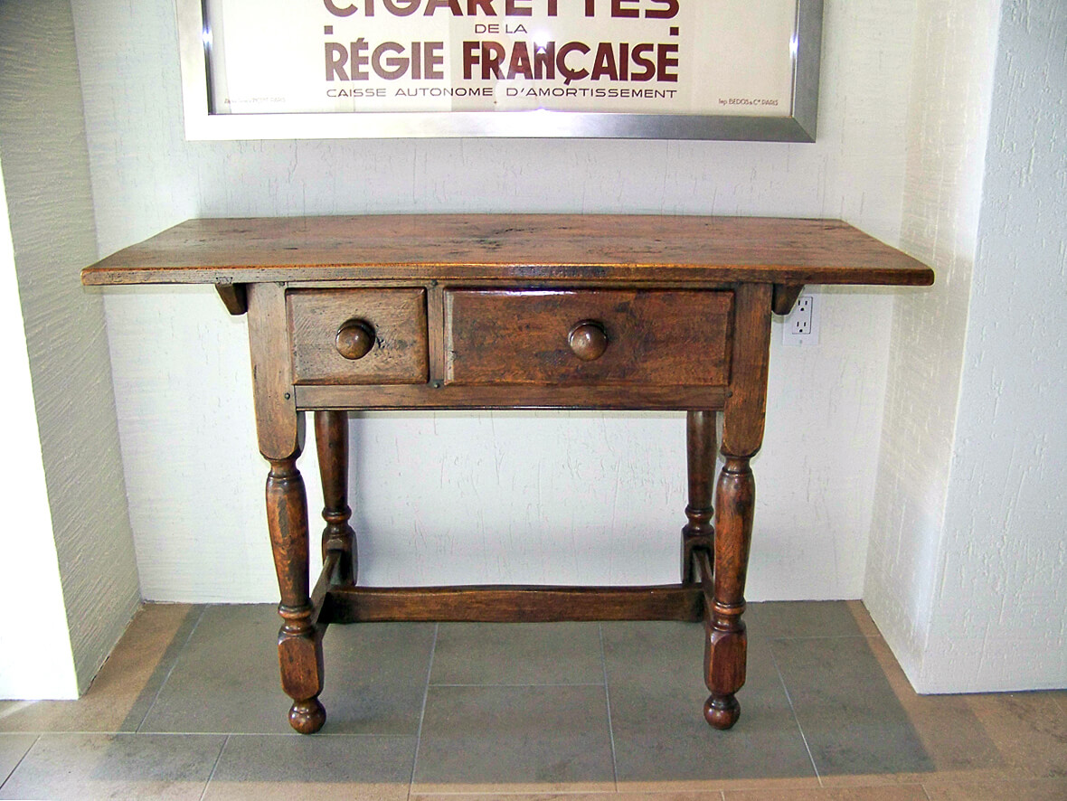 Hand Waxed Oak Side Table Museum Quality Restoration