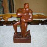 Mahogany Figure Sculpture Restoration