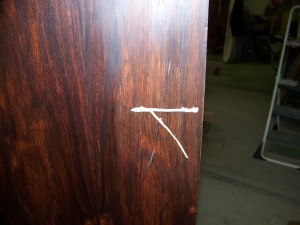 Gouged Rosewood Desk