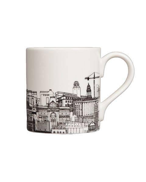 Cityscape Black and White Mug pic 1