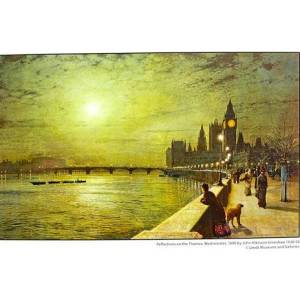 Reflections on the Thames Print pic