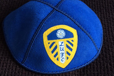 A Leeds United Football Club Jewish Cap 'Kippah' from the Leeds Museums & Galleries collection