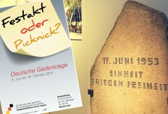 Zeitgeschichtliches Forum Leipzig – Festakt oder Picknick? Deutsche Gedenktage
