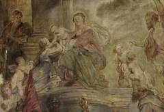 Städel Museum: Peter Paul Rubens: Die mystische Vermählung der Heiligen Katharina (Entwurf)
