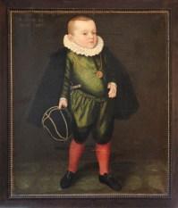 "Nicolas Juvenel: Portrait of Balthasar IV. Paumgartner, 1589, called: ""AETATIS 4. / ANNO 1589"", oil on canvas, 111 x 97 cm, private collection"