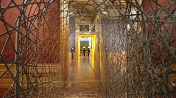 "Fivefold tunnel, 2000 ""Olafur Eliasson: BAROQUE BAROQUE"" at Belvedere Museum, Winter Palace of Prince Eugene of Savoy, Vienna"