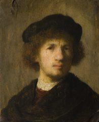 Rembrandt Harmensz. van Rijn: Självporträtt. Sign. 1630. NM 5324