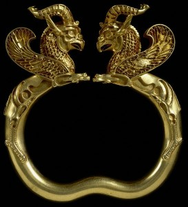 Close-up of Armlet with Griffins from the British Museum