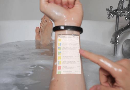 Cicret Bracelet, votre smartphone à bout de bras
