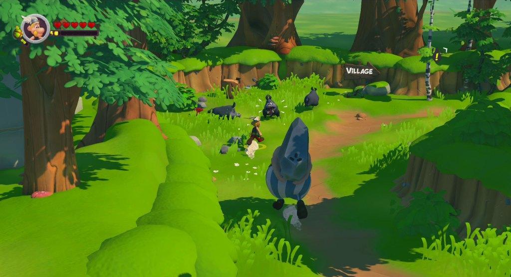 Astérix et Obélix se baladant dans la forêt dans astérix et obélix XXL 3