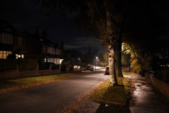 My road in the evening