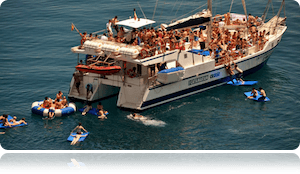Fiestas en catamarán Tossa