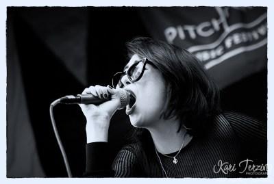 Dee Dee Penny of Dum Dum Girls at Pitchfork