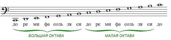 Изучаем ноты басового ключа | Музыкальный класс