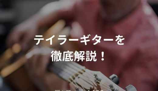 Taylor(テイラー)のアコギを解説して、おすすめギターを紹介する