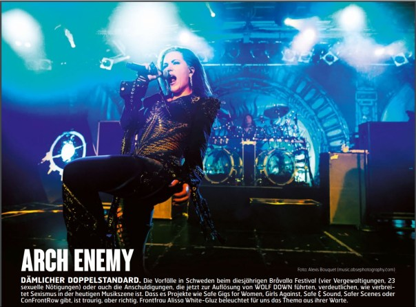 Arch Enemy, Fuze Magazin 66 OCT/NOV 17, http://fuze-magazine.de