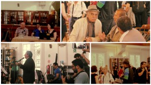 A collage of photos from the launch of Memoria Musical de Valparaíso