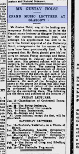 Details about Holst's lectures
