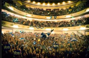 A concert in support of Scottish independence helf at the Ushers Hall in Edinburgh shortly before the independence referendum.