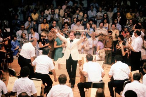 James Conlon and the CSO in 1977, the year he made his Ravinia debut. Photo: Robert M. Lightfoot III/ Courtesy of Ravinia Festival