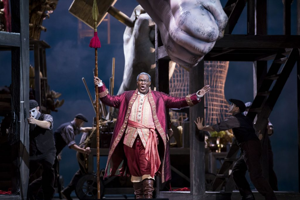 "Eric Owens as Wotan in Lyric Opera's ""Das Rheingold."" Photo: Todd Rosenberg"