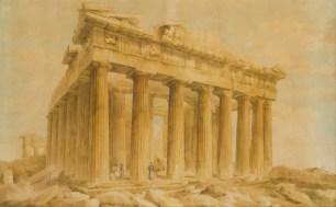 Джованни Баттиста Лузиери. Юго-восточный угол Парфенона (1803 г.) (Scottish National Gallery)