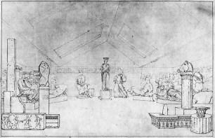 Чарльз Роберт Кокерелл. Музей графа Элгина на Парк Лейн в Лондоне(1808)